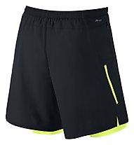 "Nike Phenom 2-in-1 7"" Laufshorts, Black/Lime"