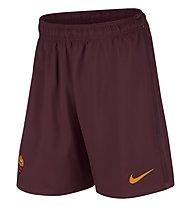 Nike A.S. Roma H/A/3 Stadium Short - pantaloni calcio, Night Maroon/Kumquat