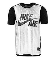 Nike Jersey T-Shirt Basketball Männer, White/Black