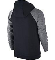 Nike Boys Sportswear Hoodie - Kapuzenjacke für Kinder, Black/Grey