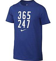 "Nike Boys' Nike Dry ""365 247"" Training T-Shirt bambino, Blue"