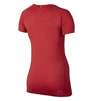 Nike Dri-FIT Knit T-shirt running donna, Red
