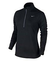 Nike Element Half Zip maglia donna, Black/Refl.Silver