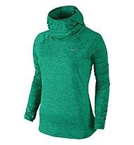 Nike Element Hoody - felpa running donna, Green