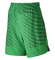 "Nike Flex 8"" Short Print Pantaloni Corti Fitness, Green"