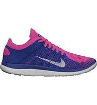 Nike Free 4.0 Flyknit W, Pink/Blue