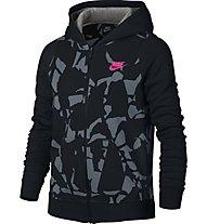 Nike Girls' Sportswear Hoodie Kapuzenjacke Mädchen, Black