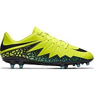 Nike Hypervenom Phelon II FG - scarpa da calcio terreni compatti, Volt/Black