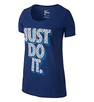 Nike Just Do It - T-Shirt donna, Blue
