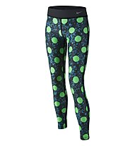 Nike Legend Allover Print Tight Trainingshose Mädchen, Electro Green/Black/Cool Grey