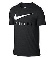 Nike Dri-Blend Mesh Swoosh Athlete Training Shirt Männer, Black