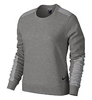 Nike Advance 15 Crew felpa donna, Dark Grey Heather