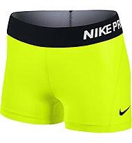 "Nike Pro 3"" Cool Short pantaloncini ginnastica donna, Volt/Black"