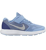 Nike Revolution 3 - scarpa da ginnastica ragazzi, Light Blue/White