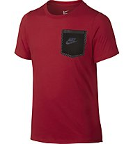 Nike Tri Blend Tech TD Tee YTH T-Shirt Bambino, University Red