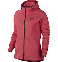 Nike Women Sportswear Tech Fleece Hoodie - damen-Kapuzenjacke, Red