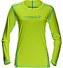 Norrona /29 tech Langarmshirt Damen, Birch Green/Cyantastic