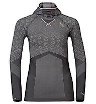 Odlo Blackcomb Evolution Warm langärmliges Damen-Funktionsshirt mit Facemask, Odlo concrete Grey/Black