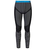 Odlo Blackcomb Evolution Warm Pants lange Unterhose, Concrete Grey/Black/Blue