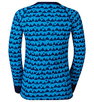 Odlo Warm Kids Shirt l/s Pants long Set Unterwäsche Komplet für Kinder, Blue Jewel/Peacoat
