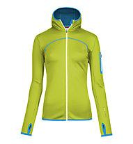 Ortovox Merino Fleece Hoody giacca in pile donna, Happy Green