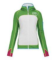 Ortovox Merino Fleece Plus Hoody giacca donna, Absolute Green