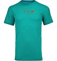 Ortovox 150 Merino Cool World Print T-Shirt, Light Blue
