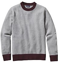 Patagonia Men's Reclaimed Wool Crewneck Sweater Maglione trekking, Grey