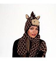 PinkYak Giraffa con Sciarpa, Brown/Black
