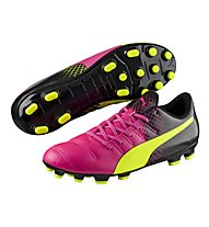 Puma EvoPower 4.3 Tricks AG - Fußballschuhe, Pink/Yellow