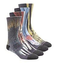Reebok Printed Crossfit Socken Pack 4, Black/Multicolour