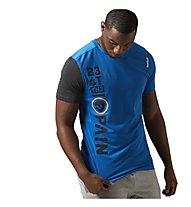 Reebok One Series Breeze SS T-Shirt Crossfit, Blue Sport