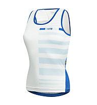 rh+ Cullinan W Top Damen Radtop/Radtrikot, White/Pastel Water/Petrol