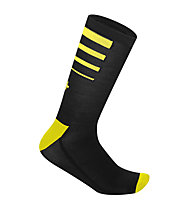 rh+ Calzini bici Feel 15 Sock, Black/Fluo Yellow
