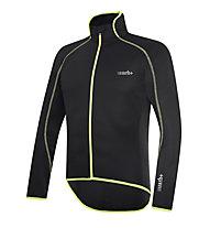 rh+ Giacca bici Prime Jacket, Black/Fluo Yellow