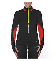 Rock Experience Enduro LS 1/2 Zip Maglia ma manchie lunghe trailrunning donna, Jet Black