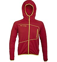 Rock Experience Lavaredo Full Zip Fleece Man Giacca in pile, Red