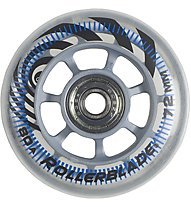 Rollerblade Rotelle Rb 72/80A+Sg5+ distanziatori alluminio, Transparent