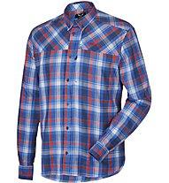 Salewa Fanes Flannel Pl M L/S Srt langärmeliges Herrenhemd, Blue