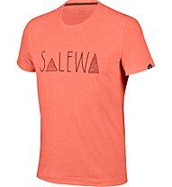 Salewa Frea Graph Dry M S/S Tee T-Shirt Arrampicata, Orange