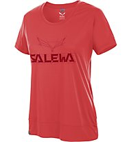 Salewa Puez Mountain DRY - T-shirt trekking donna, Hot Coral