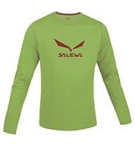 Salewa Solidlogo Shirt Langarm, Foliage