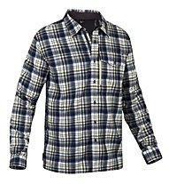 Salewa Therma PL M L/S Shirt Camicia a maniche lunghe trekking, M Noshaq Snow/Elect.