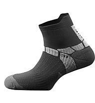 Salewa Ultra Training Socks Calzini Corti trekking, Black/Grey