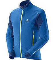 Salomon Momentum Softshell Jacket M, Union Blue/Midnight Blue