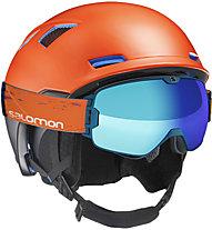Salomon MTN Charge - Freeridehelm, Orange/Black