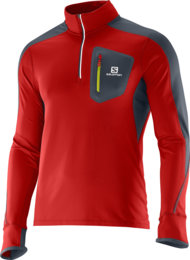 Salomon Trail Runner Warm LS Zip Tee M