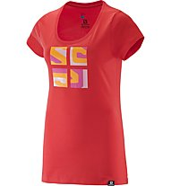 Salomon Warhol Cotton T-Shirt Damen, Red