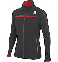 Sportful Engadin Wind Jacket, Black/Red