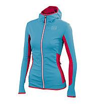 Sportful Rythmo W Jacket, Turquoise/Pink